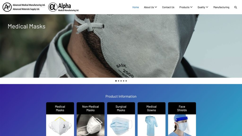 Advanced Medical Manufacturing Ltd. Website